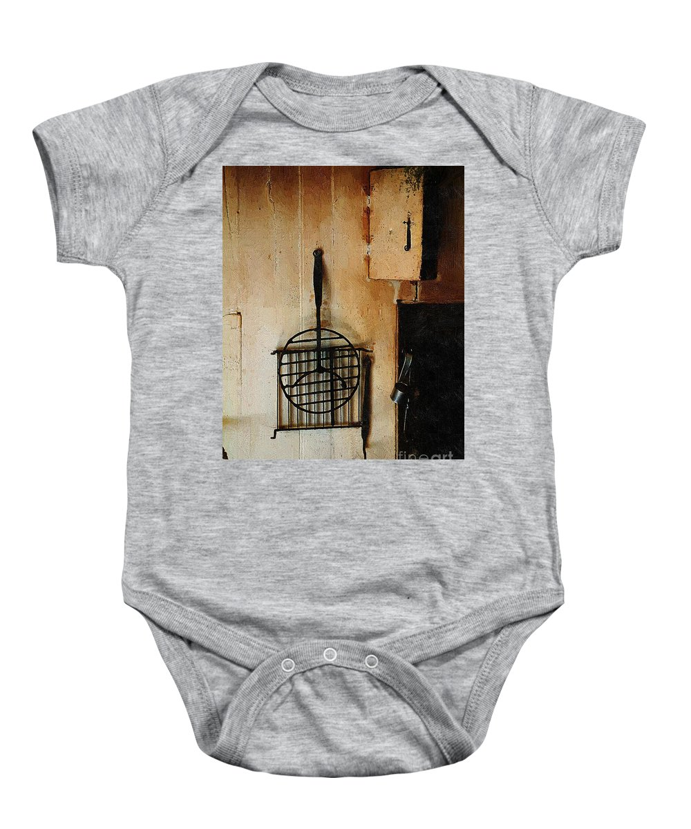 Americana Baby Onesie featuring the painting Goodwife Hamlyn's Hearth by RC DeWinter