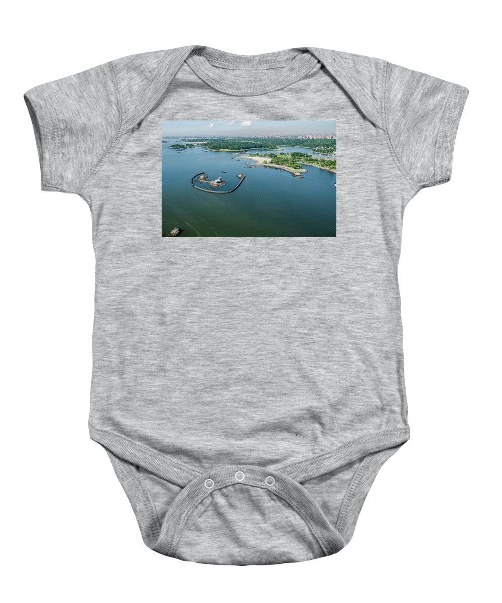 Glen Island Baby Onesie featuring the photograph Goose Island by Louis Vaccaro