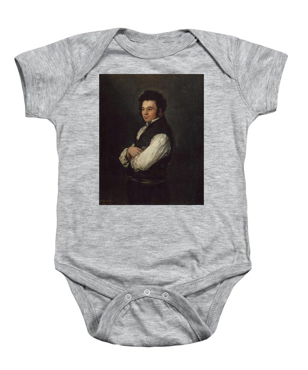 Tiburcio Pérez Y Cuervo (1785 86–1841) Baby Onesie featuring the painting Goya by MotionAge Designs