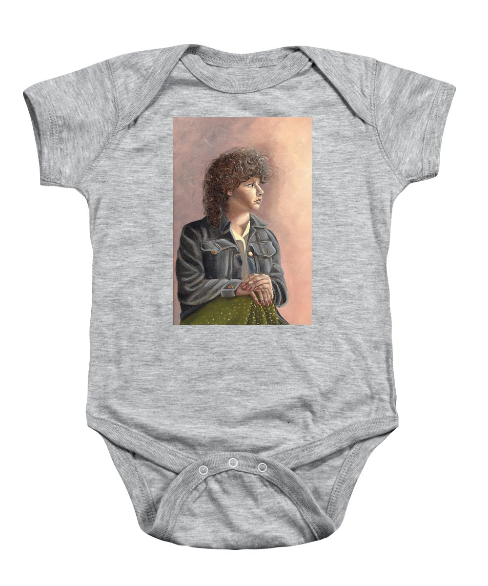 Baby Onesie featuring the painting Grace by Toni Berry
