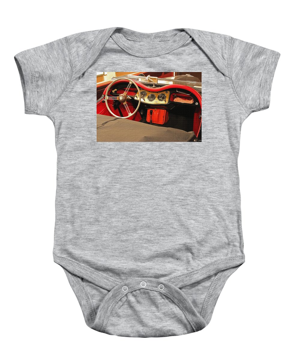 Auto Baby Onesie featuring the photograph Grandpa's Garage by Vincent White