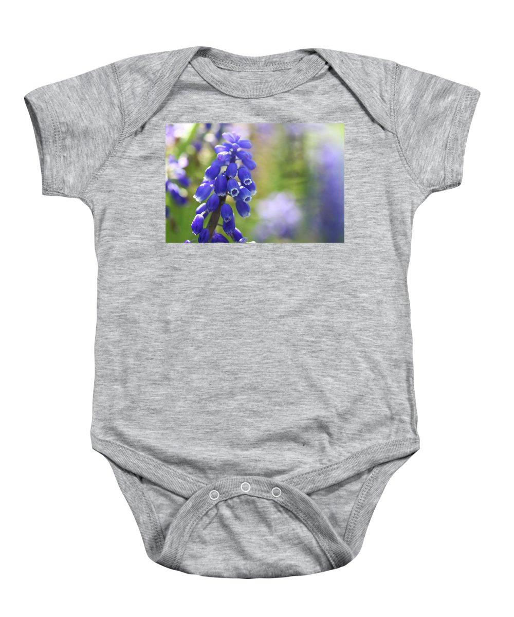 Flower Baby Onesie featuring the photograph Grape Hyacinth II by Martina Schneeberg-Chrisien