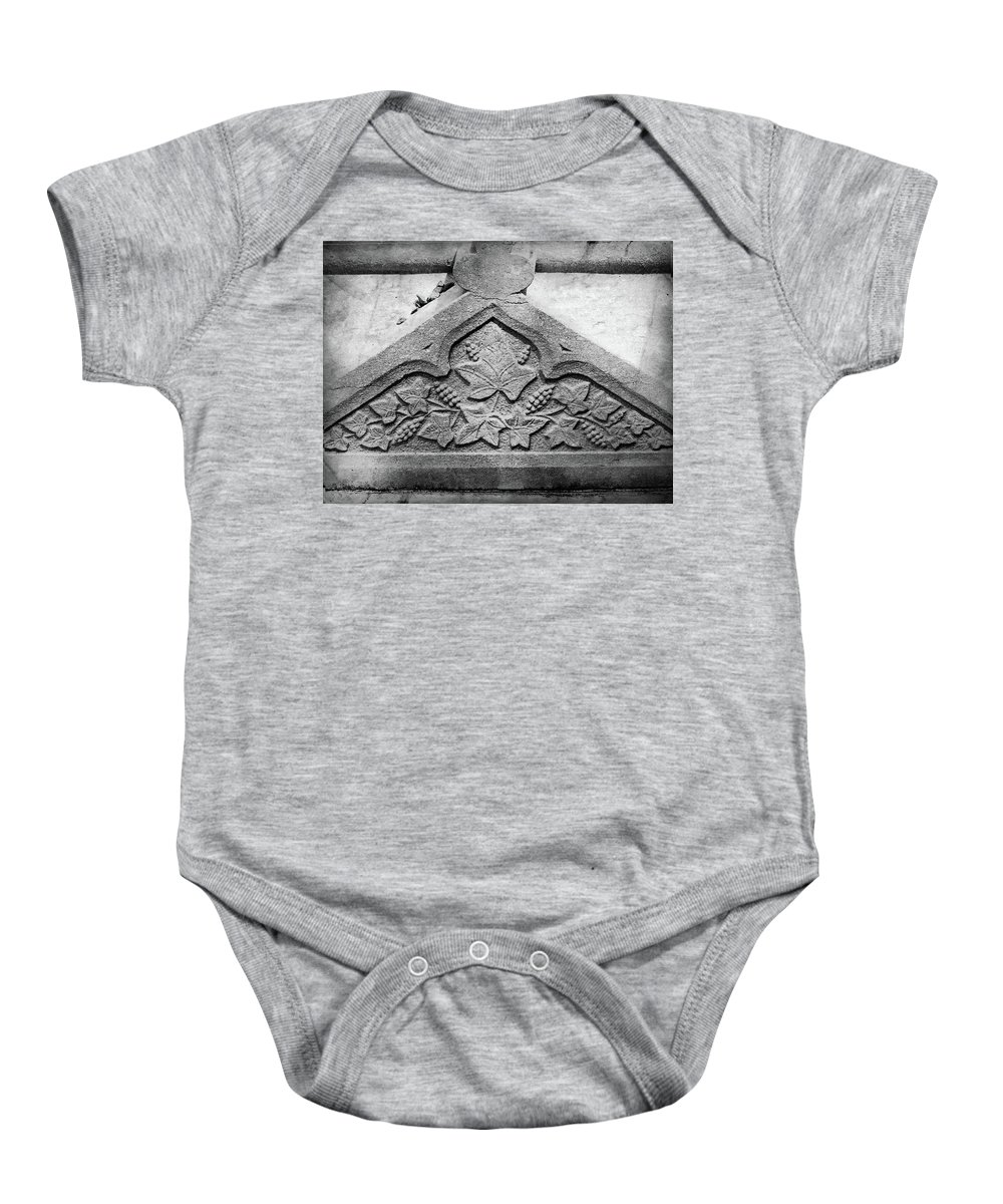 Ireland Baby Onesie featuring the photograph Grapevine Carving by Teresa Mucha
