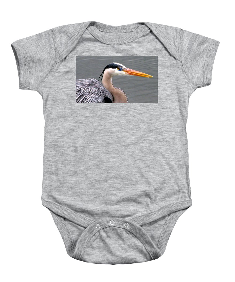Bird Baby Onesie featuring the photograph Great Blue Heron 5 by J M Farris Photography