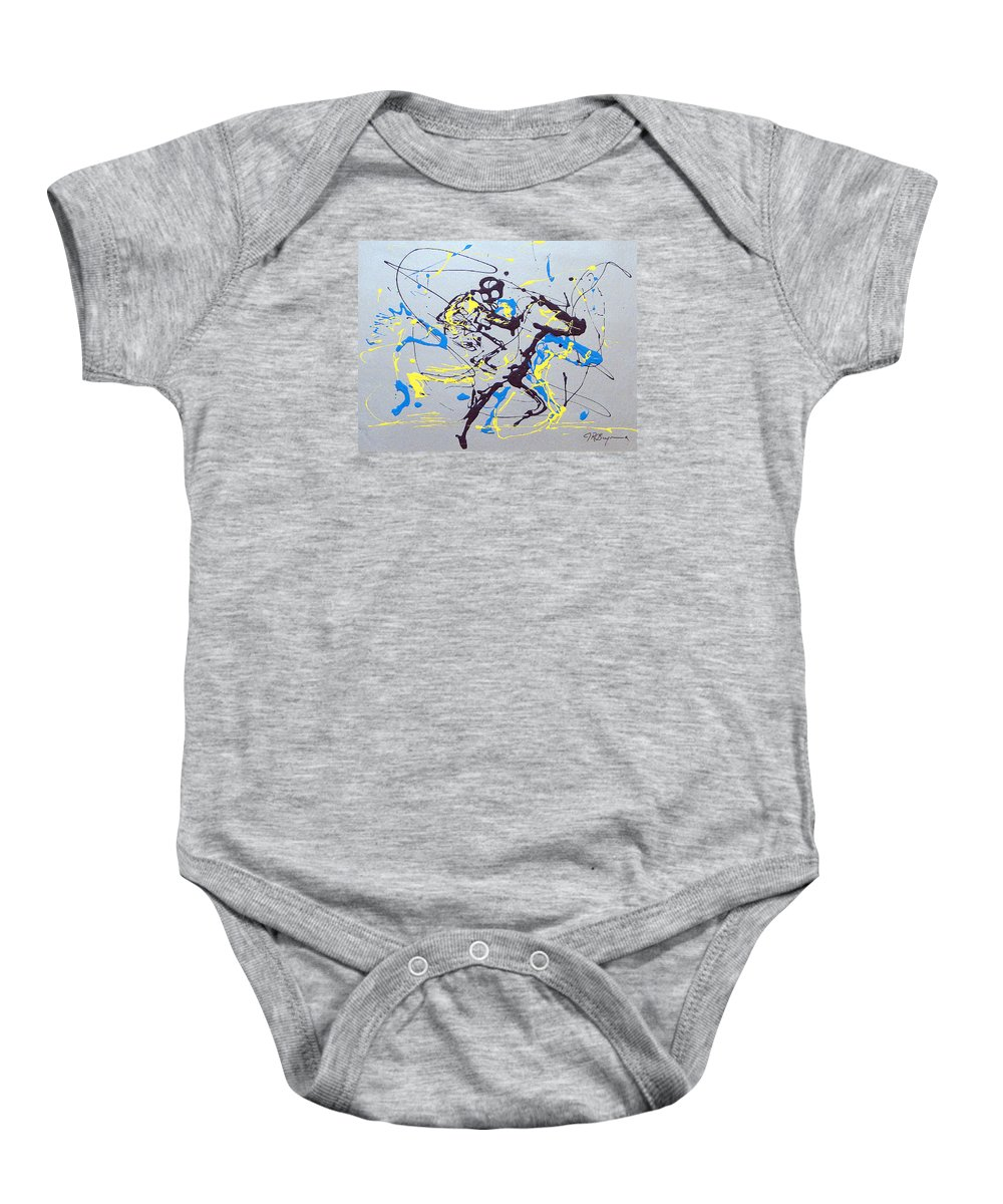 Kentucky Derby Baby Onesie featuring the painting Great Day In Kentucky by J R Seymour