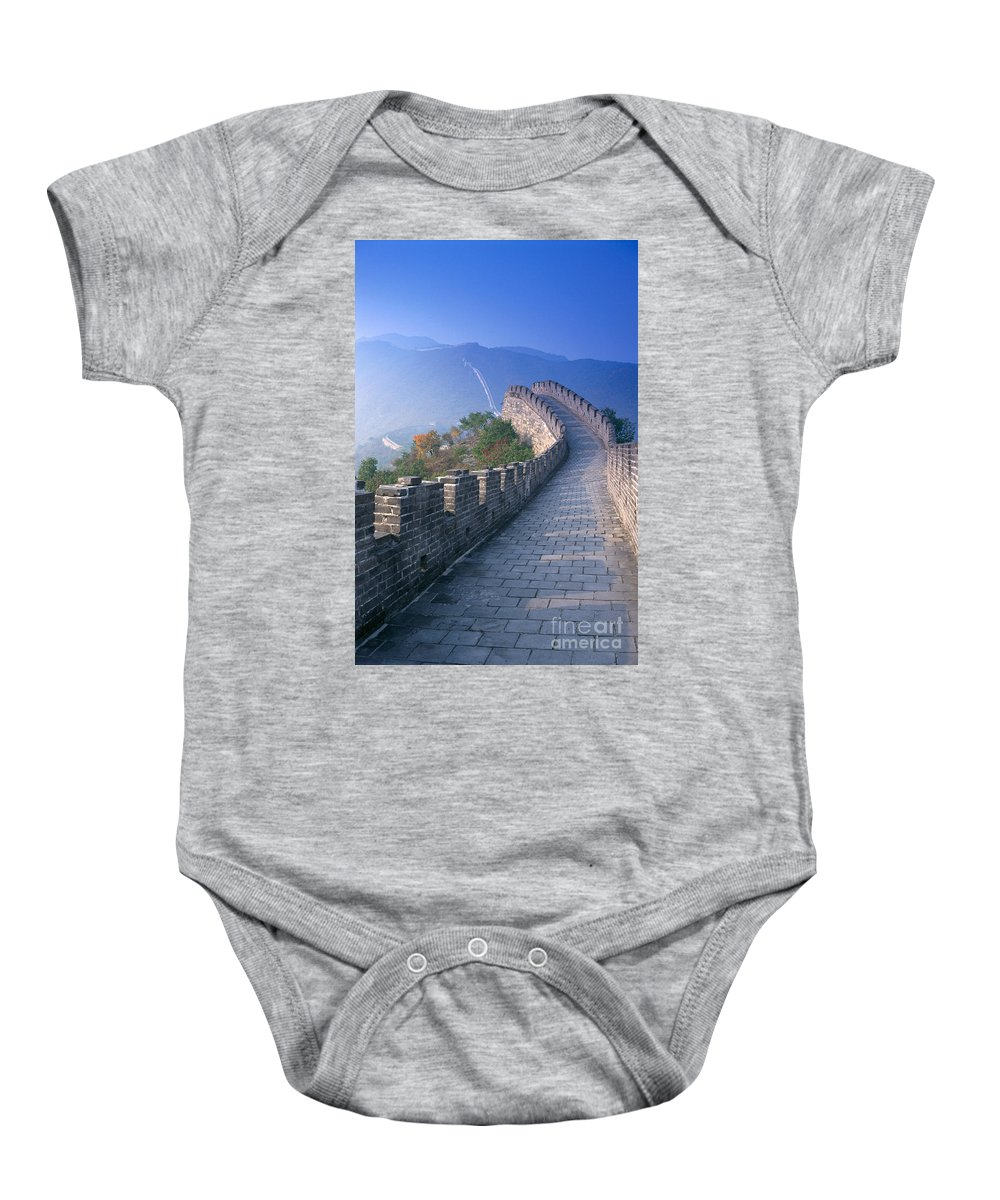 Asian Art Baby Onesie featuring the photograph Great Wall Of China by Gloria and Richard Maschmeyer - Printscapes