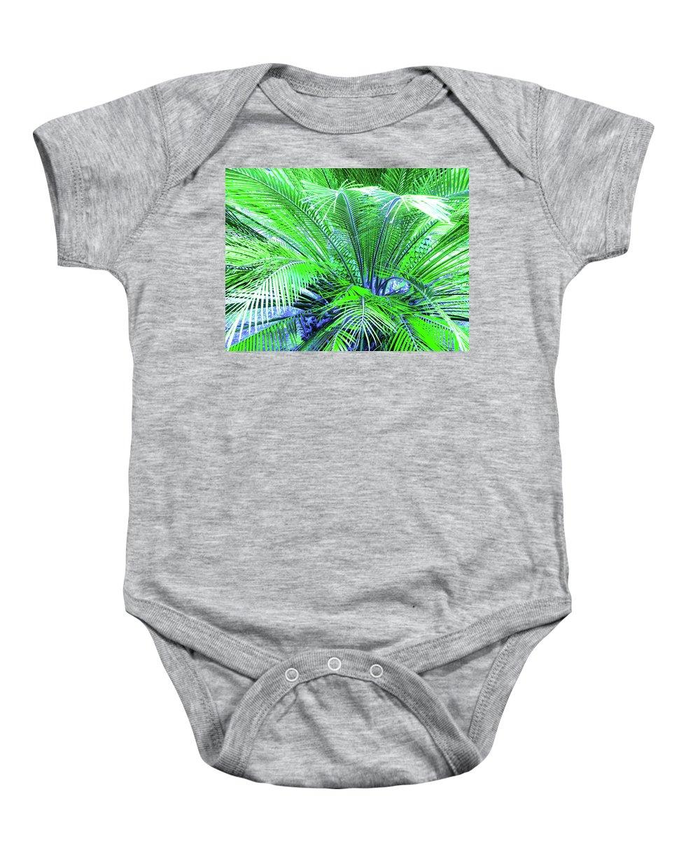 Palm Baby Onesie featuring the photograph Green Palm by Laura Greco