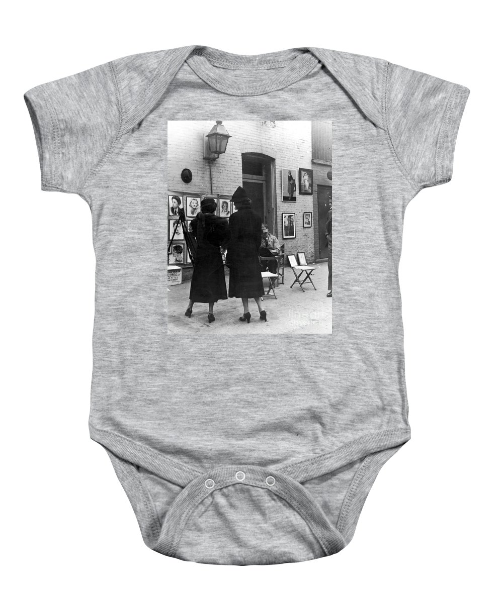 1950s Baby Onesie featuring the photograph Greenwich Village, C1950 by Granger