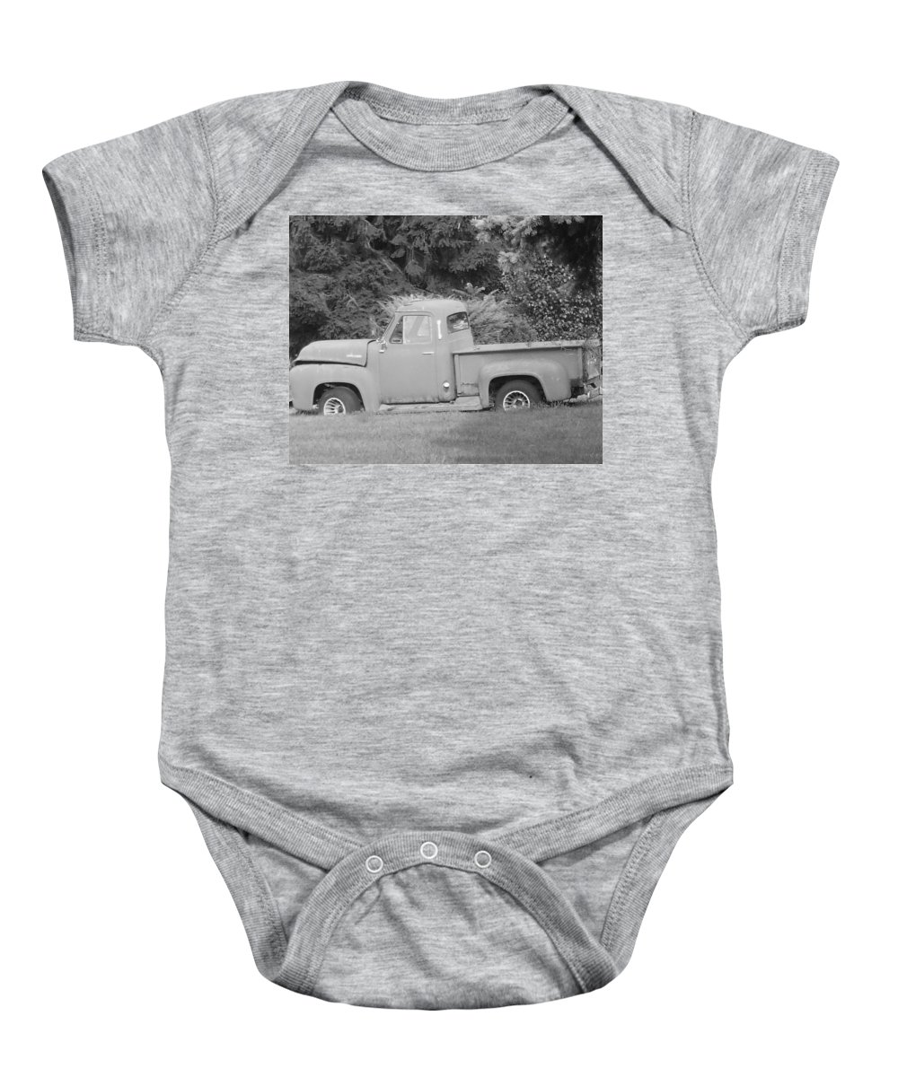 Truck Baby Onesie featuring the photograph Grounded Pickup by Pharris Art
