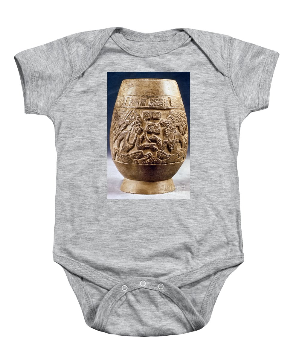 900 Baby Onesie featuring the photograph Guatemala: Mayan Vase by Granger