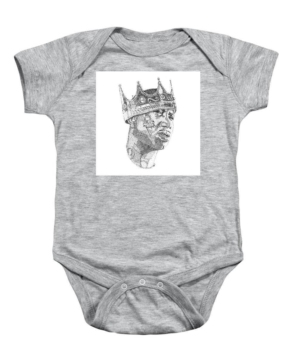 52a1de217c1 Black Art Baby Onesie featuring the drawing Gucci Mane by Marcus Price