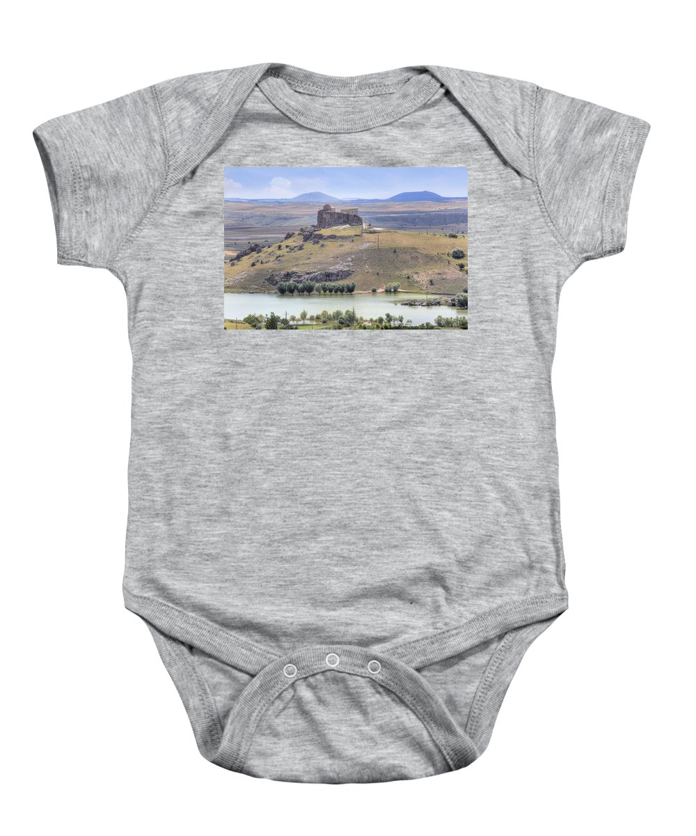 Analipsis Church Baby Onesie featuring the photograph Guezelyurt - Turkey by Joana Kruse