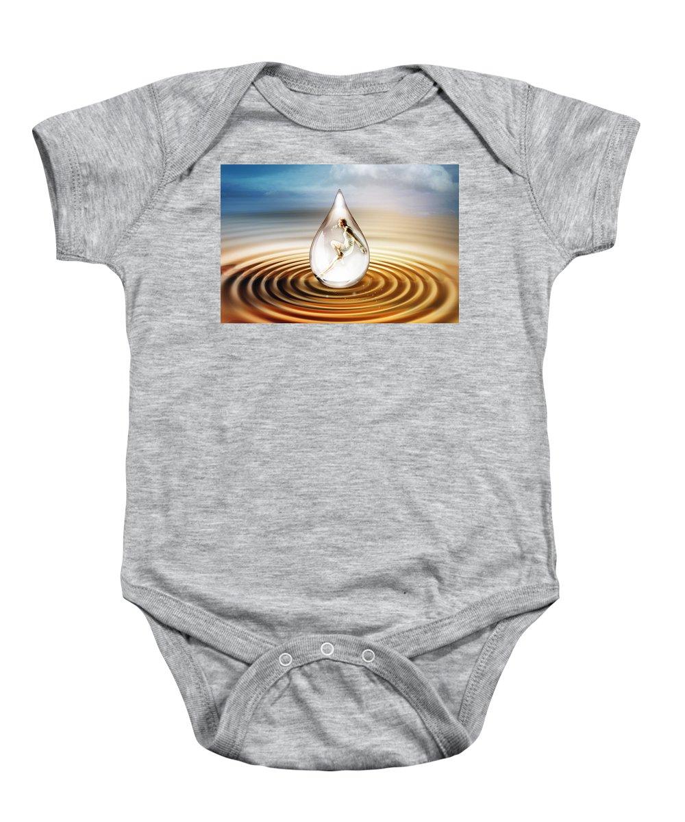 Water Baby Onesie featuring the digital art H2O by Jacky Gerritsen