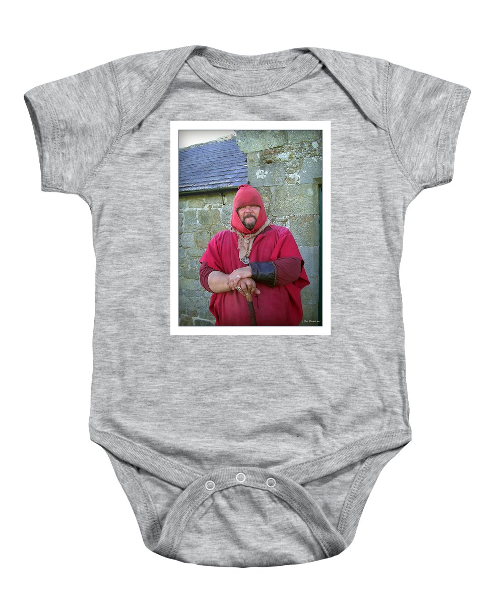 Hadrian's Wall Baby Onesie featuring the photograph Hadrians Wall Guard by Joan Minchak