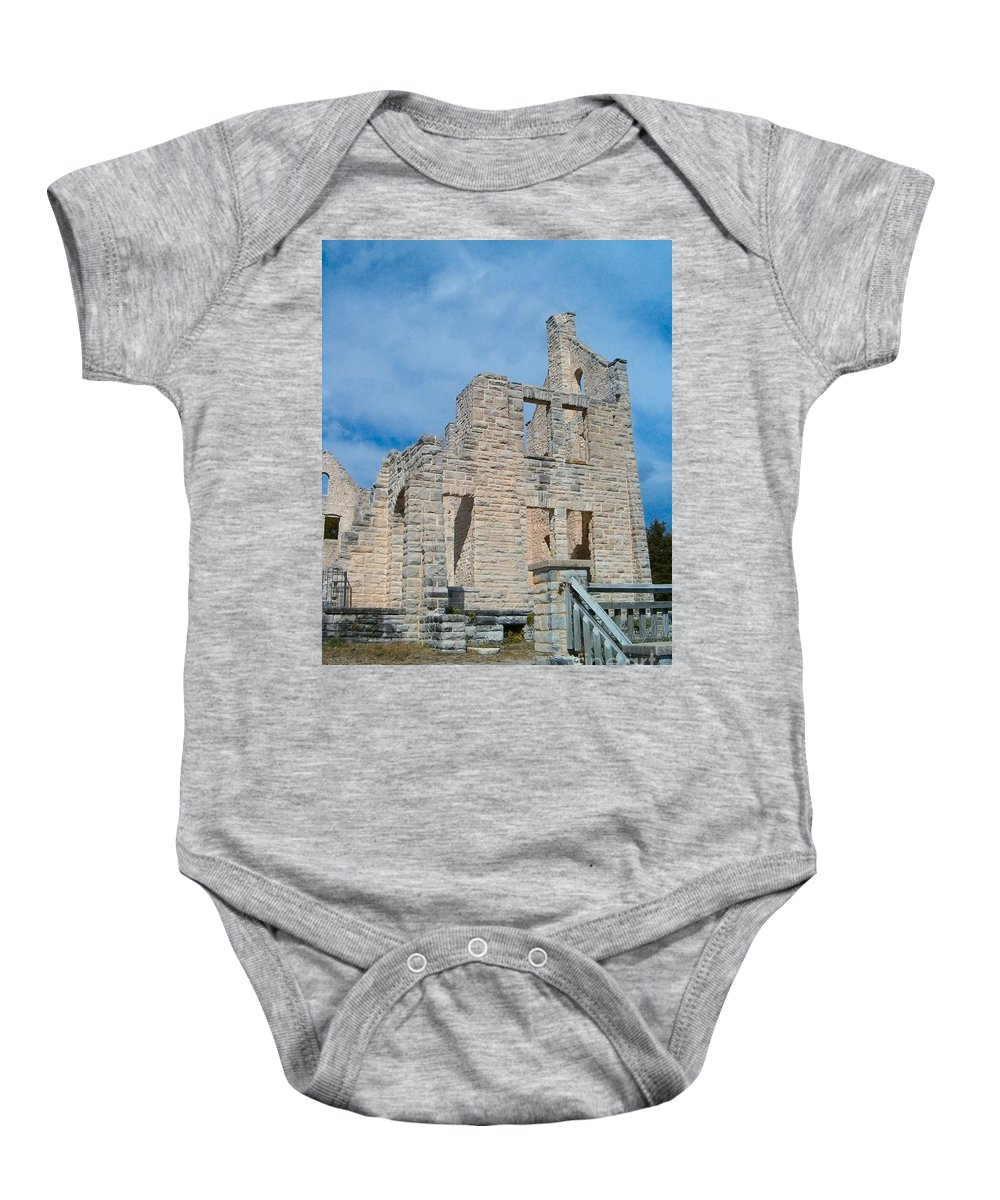 Castle Baby Onesie featuring the photograph Haha Tonka Castle 2 by Sara Raber