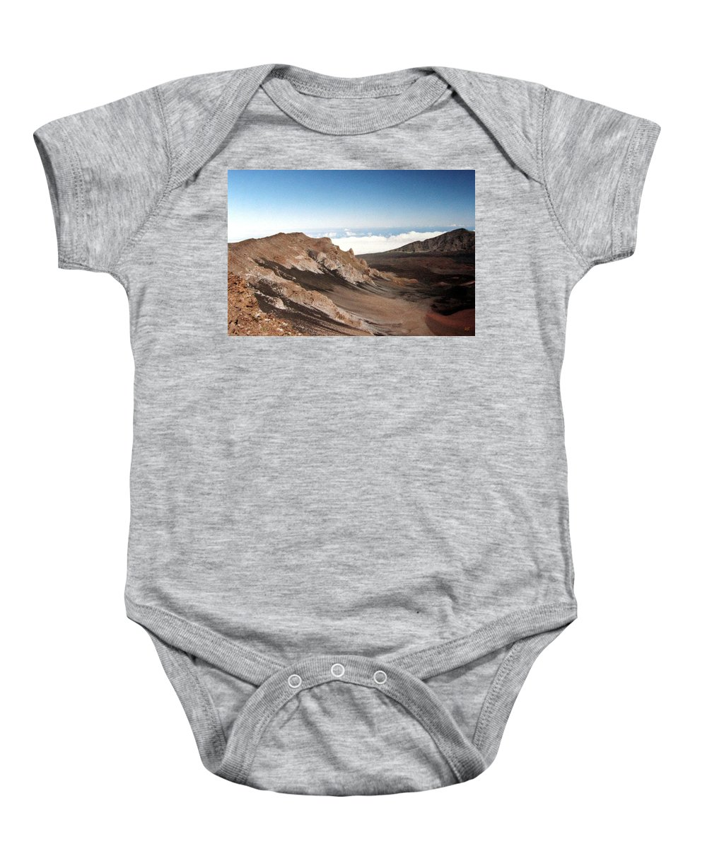 1986 Baby Onesie featuring the photograph Haleakala Crater by Will Borden
