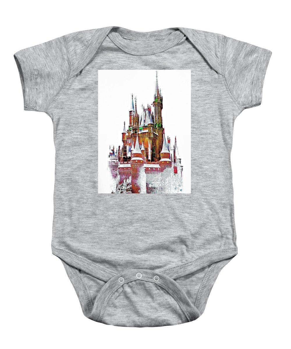 Castle Baby Onesie featuring the photograph Hall Of The Snow King by Steve Harrington