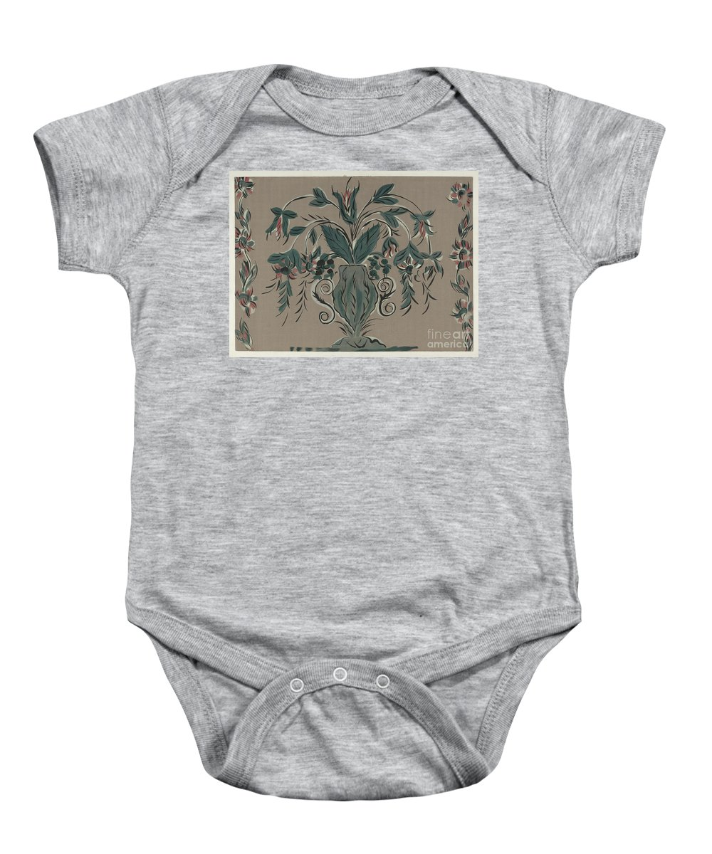 Baby Onesie featuring the drawing Hand Painted Wall by Martin Partyka