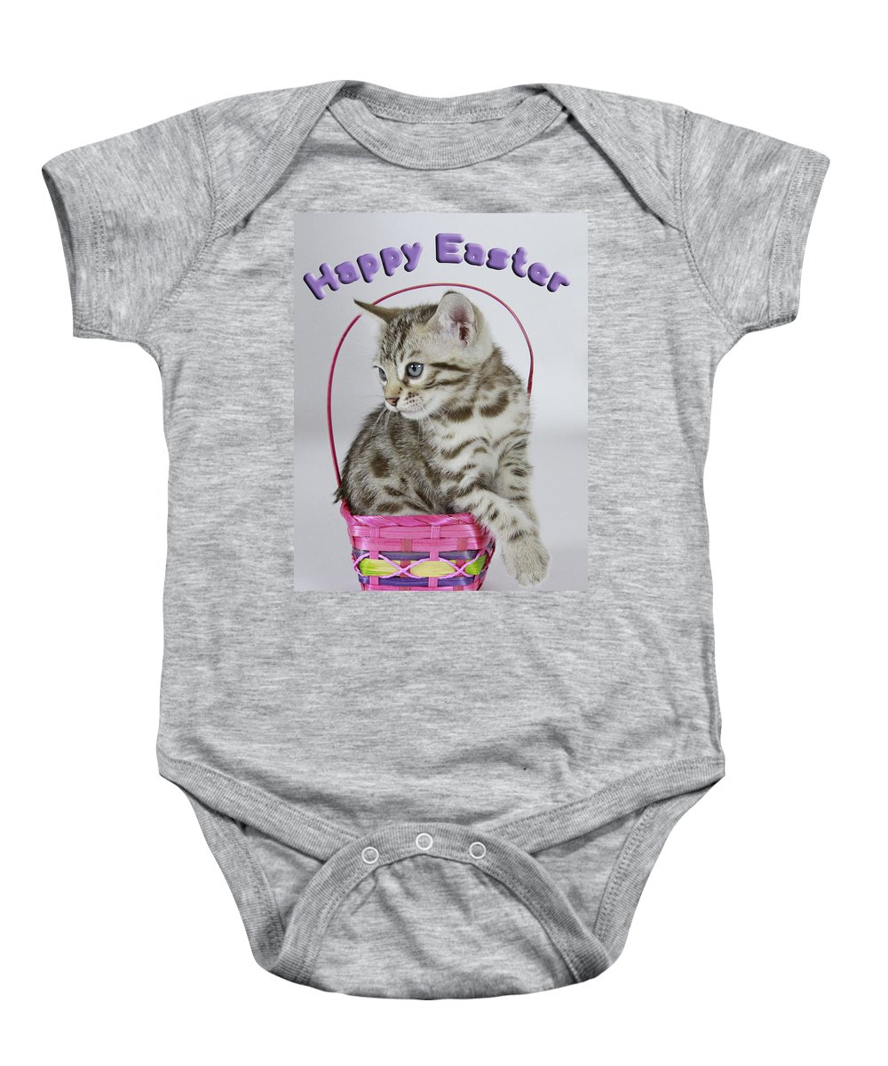 Bengal Baby Onesie featuring the photograph Happy Easter Card by Shoal Hollingsworth