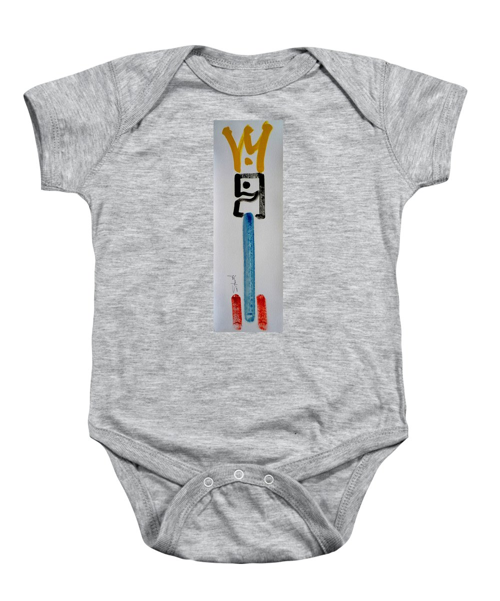 King Baby Onesie featuring the painting Happy King by Charles Stuart