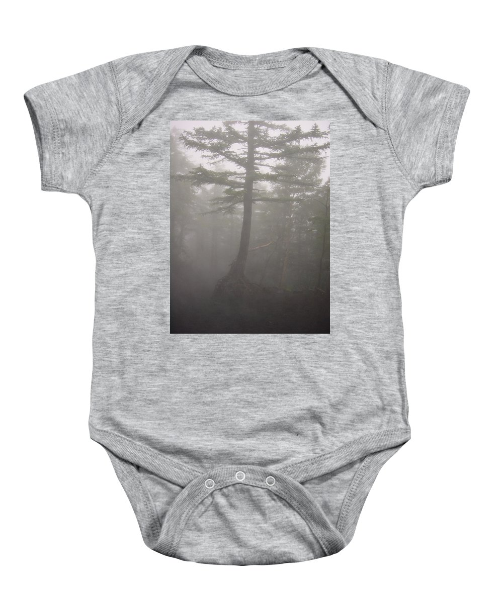 Forrest Baby Onesie featuring the photograph Haunted Forest by D Turner