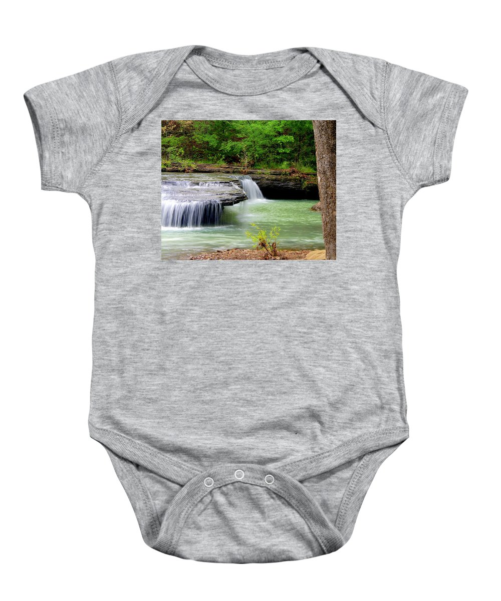Waterfalls Baby Onesie featuring the photograph Haw Creek Falls by Marty Koch