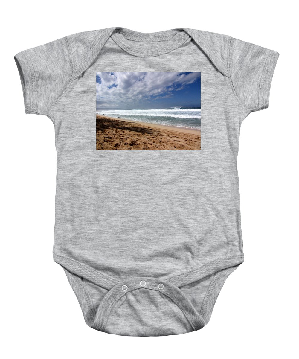 Hawaii Baby Onesie featuring the photograph Hawaii Northshore by Sarah Houser