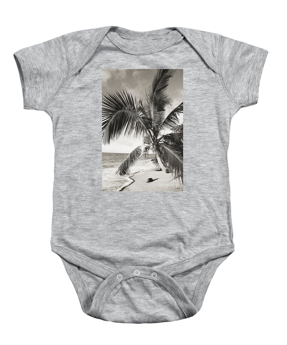 Art Medium Baby Onesie featuring the photograph Hawaii Ocean Palm by Ed Robinson - Printscapes