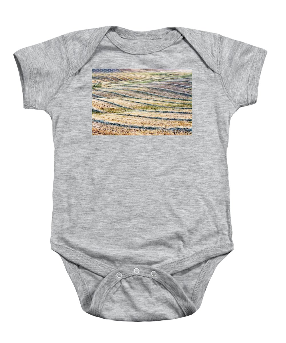 San Joaquin Valley Baby Onesie featuring the photograph Hay Billows II by Doug Holck