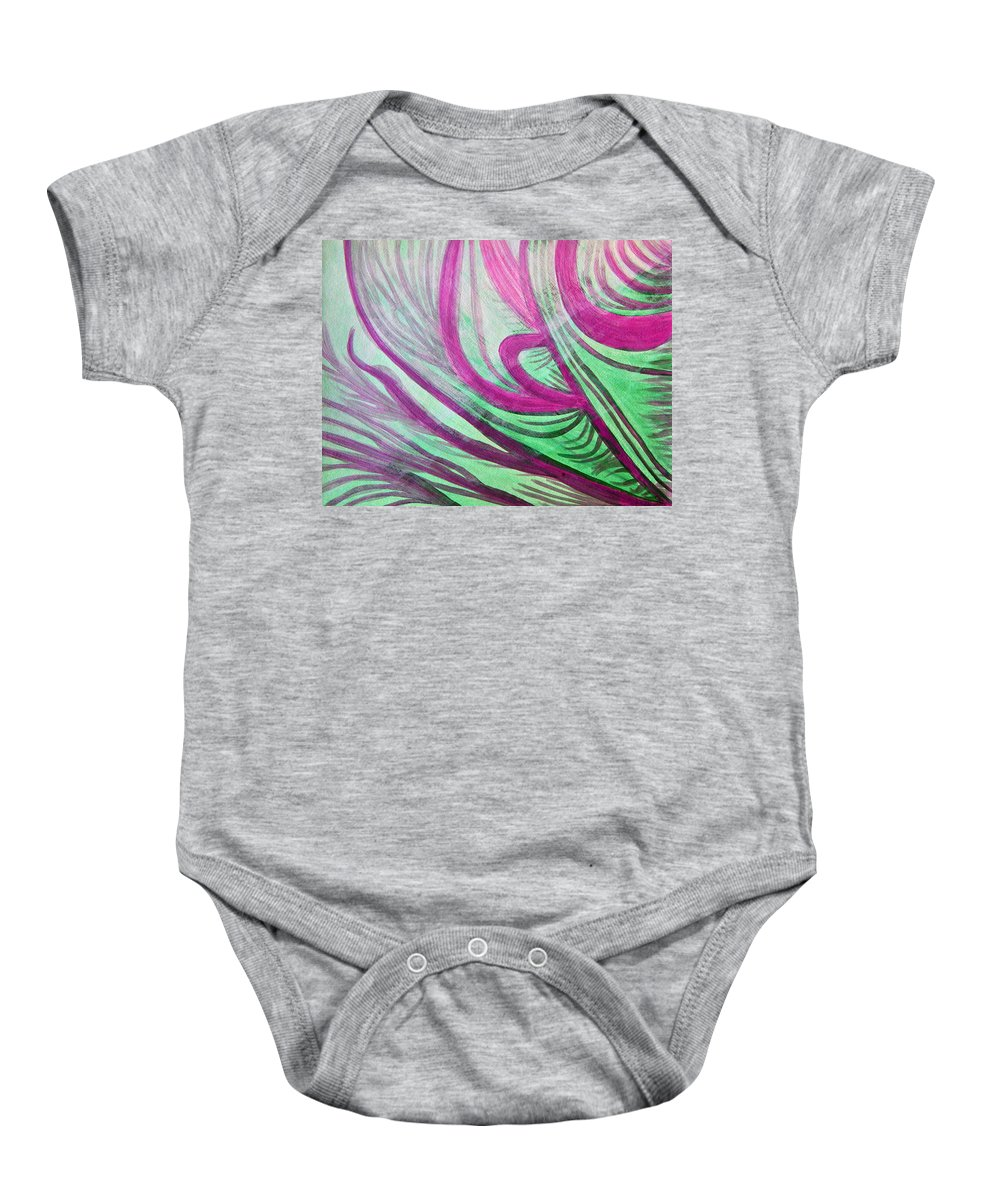 Art Baby Onesie featuring the painting Healing Waves by Lee Serenethos