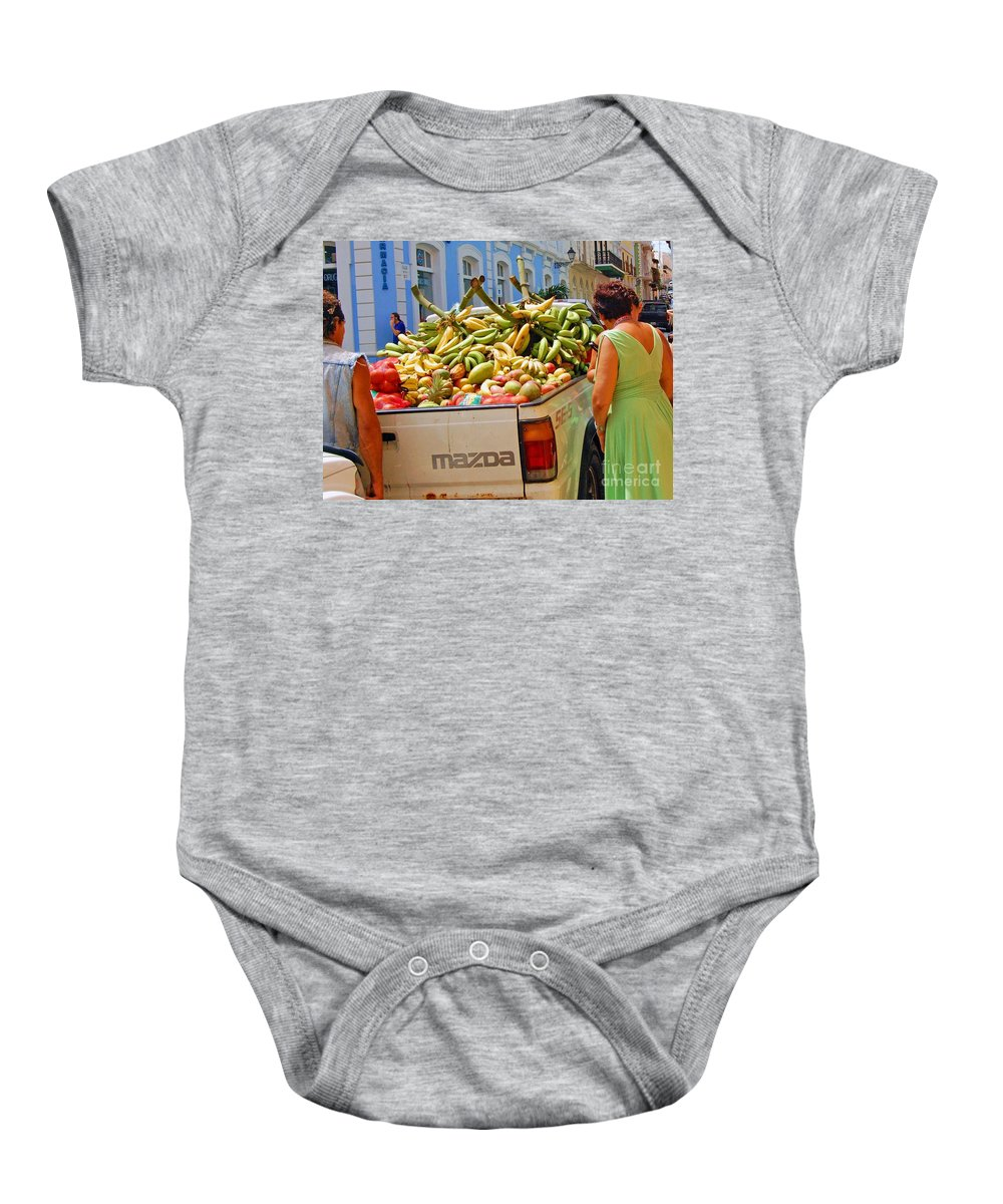 Fruit Baby Onesie featuring the photograph Healthy Fast Food by Debbi Granruth