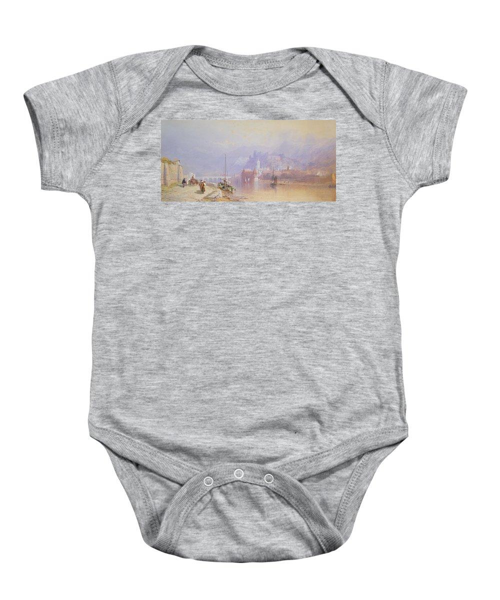 Heidelberg Baby Onesie featuring the painting Heidelberg by Thomas Miles Richardson