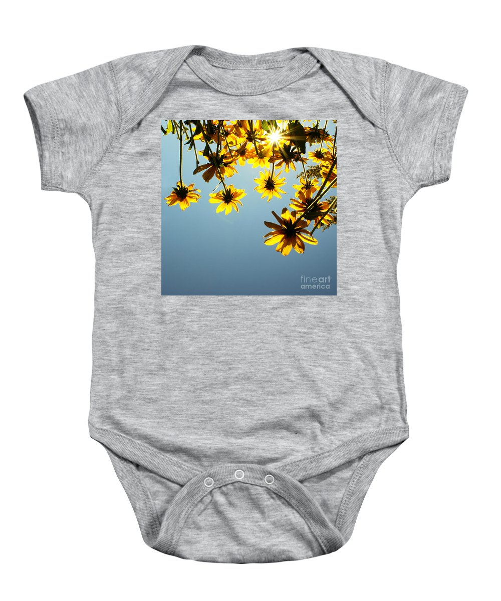 Sun Baby Onesie featuring the photograph Here Comes The Sun by Aimelle