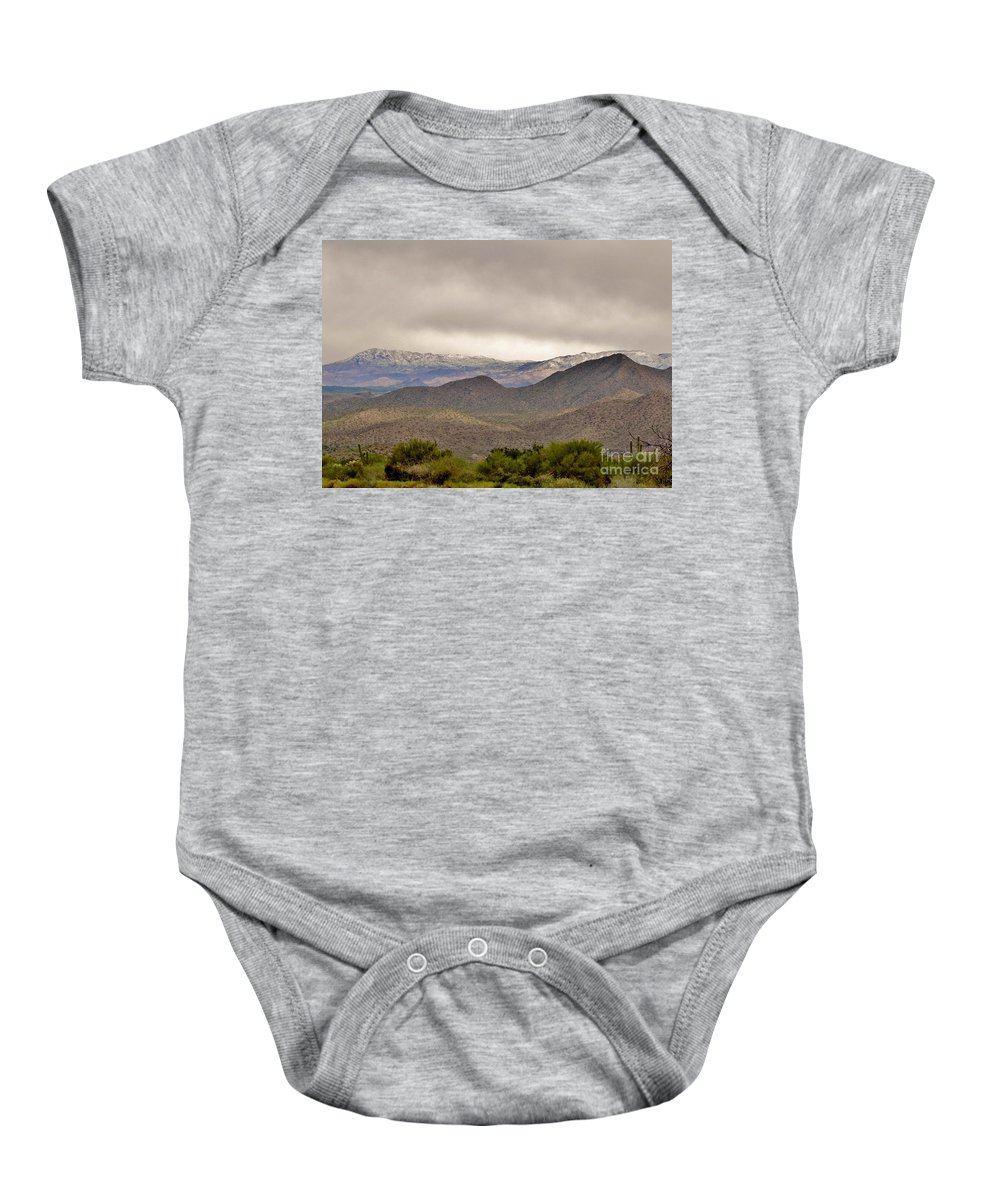 Arizona Landscape Baby Onesie featuring the photograph Here Comes The Sun by Marilyn Smith