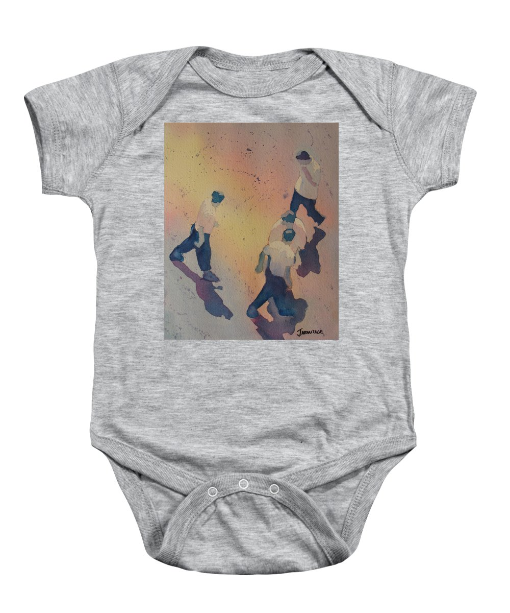 Men Baby Onesie featuring the painting High Noon At The Gravel Spit I by Jenny Armitage