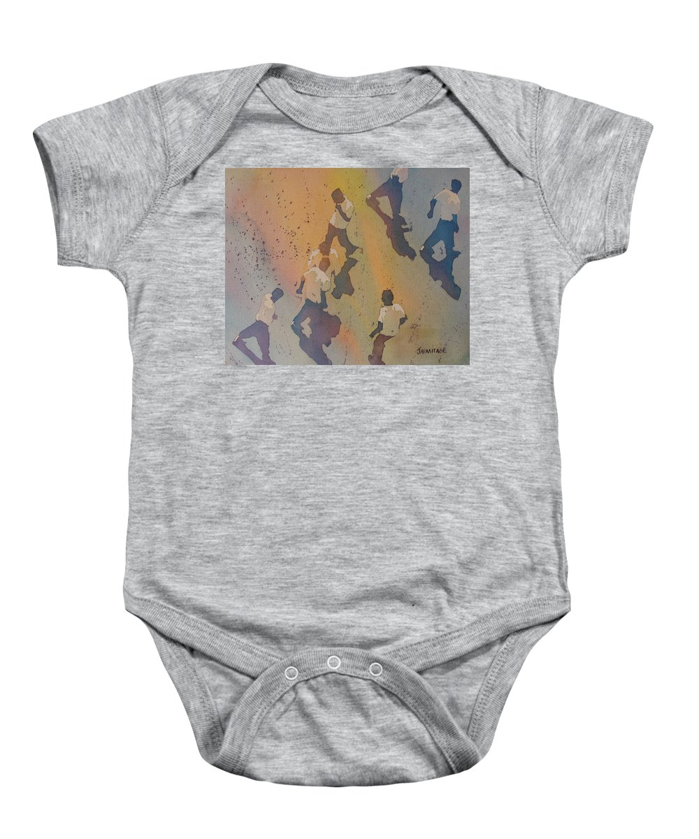 Men Baby Onesie featuring the painting High Noon At The Gravel Spit II by Jenny Armitage