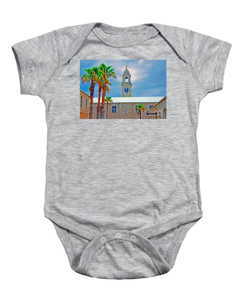 Palm Trees Baby Onesie featuring the photograph High Noon by Debbi Granruth