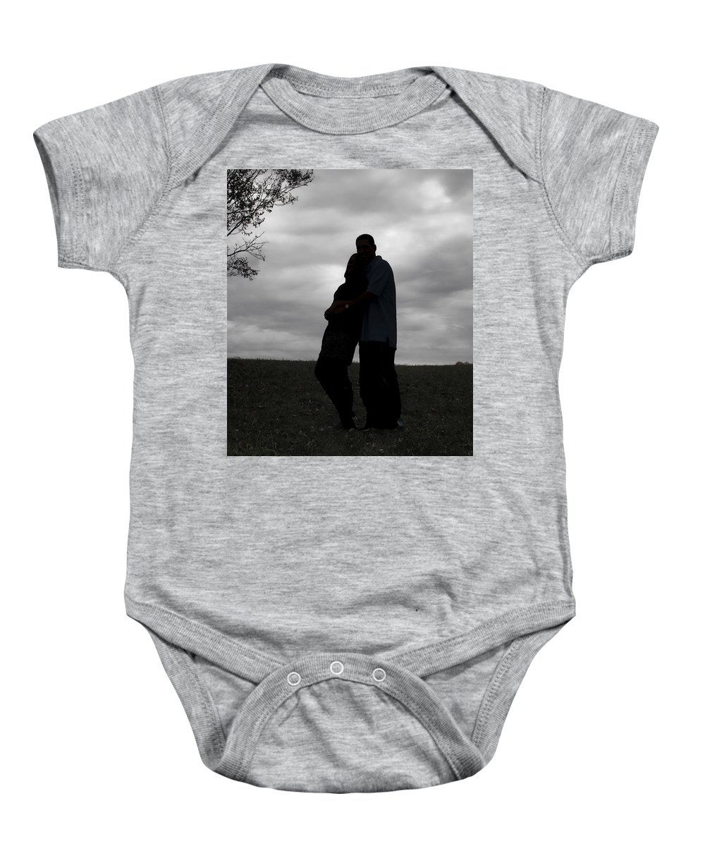 Love Baby Onesie featuring the photograph Hill Top Love by Kristie Bonnewell