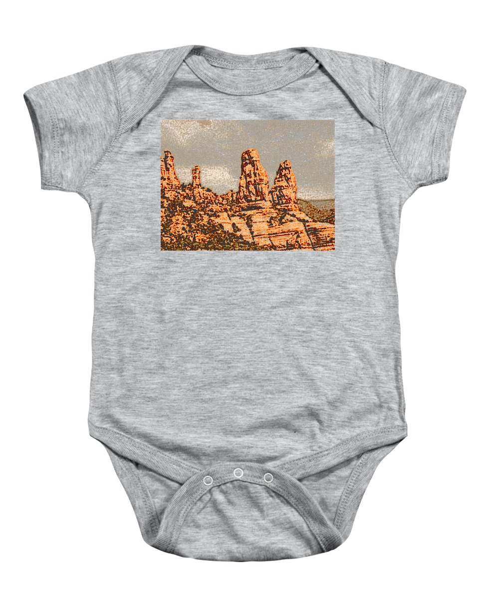 Altered Photography Baby Onesie featuring the photograph Hills In Sedona by Wayne Potrafka