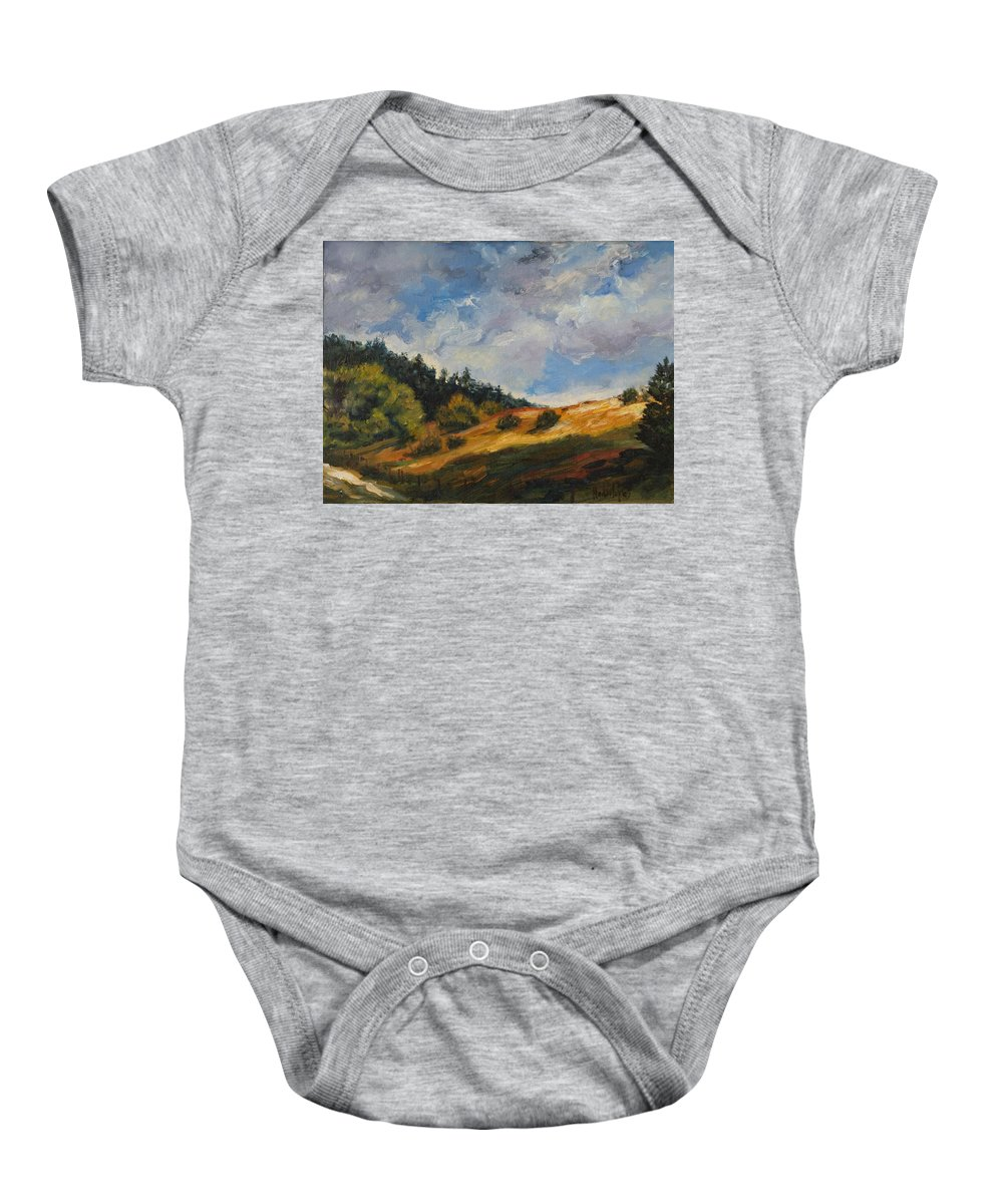 Hills Baby Onesie featuring the painting Hills by Rick Nederlof