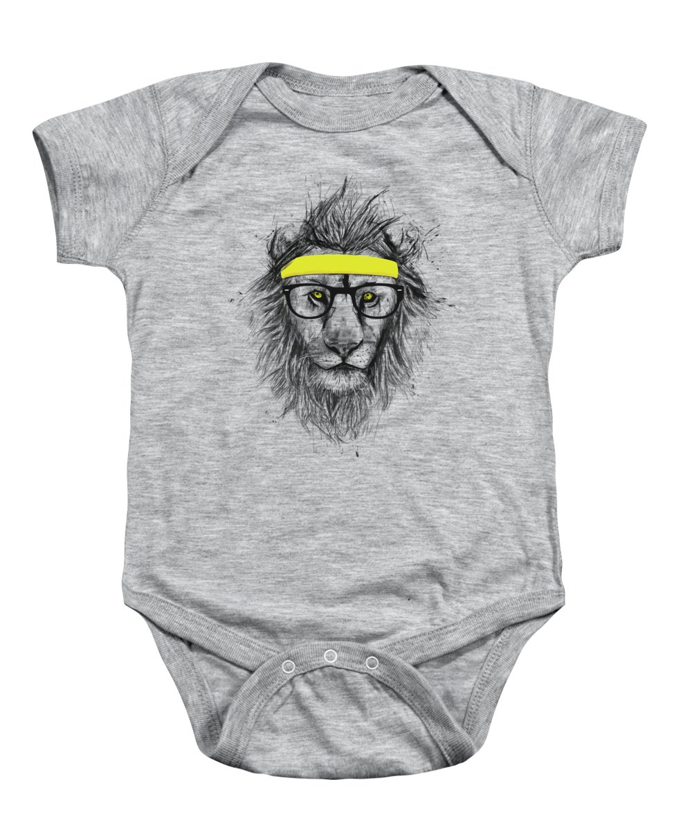 Hipster Lion Baby Onesie