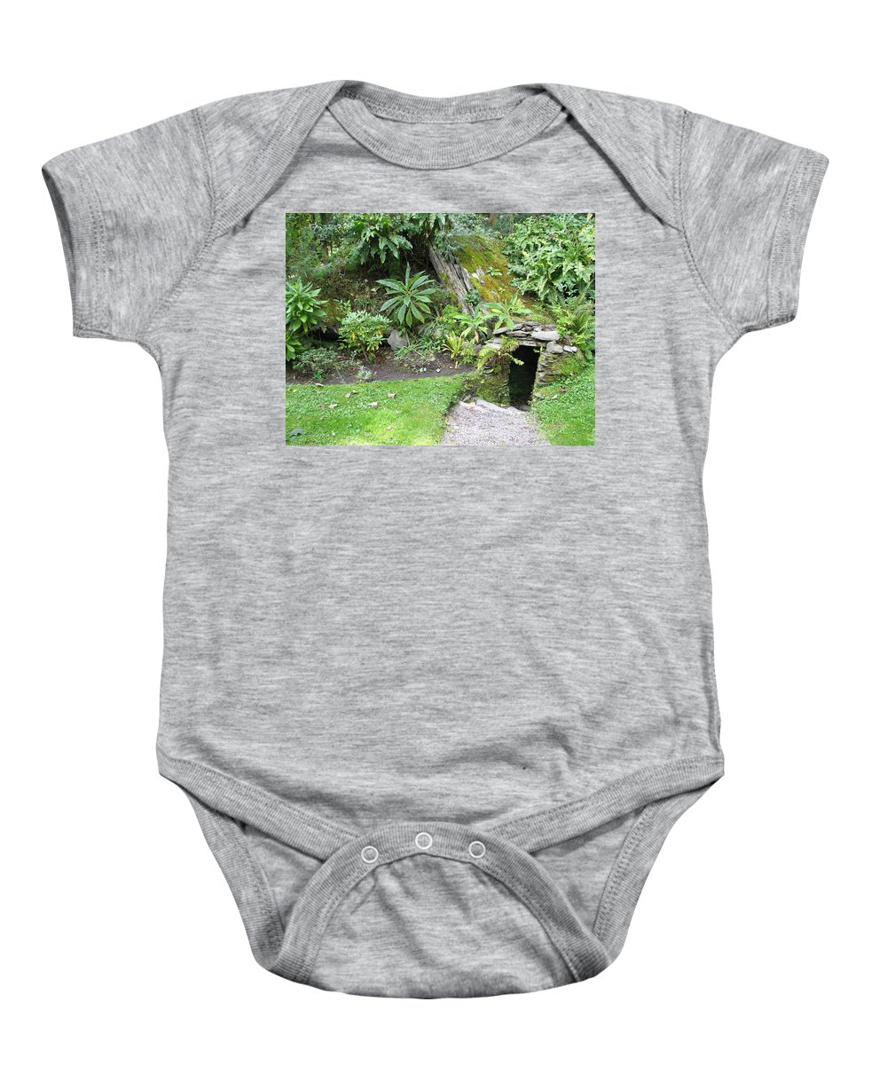 Hobbit Baby Onesie featuring the photograph Hobbit Home by Kelly Mezzapelle
