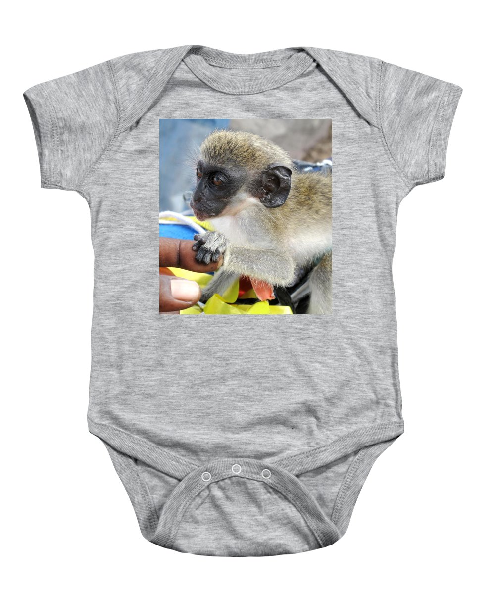 Verdant Baby Onesie featuring the photograph Holding Hands by Ian MacDonald