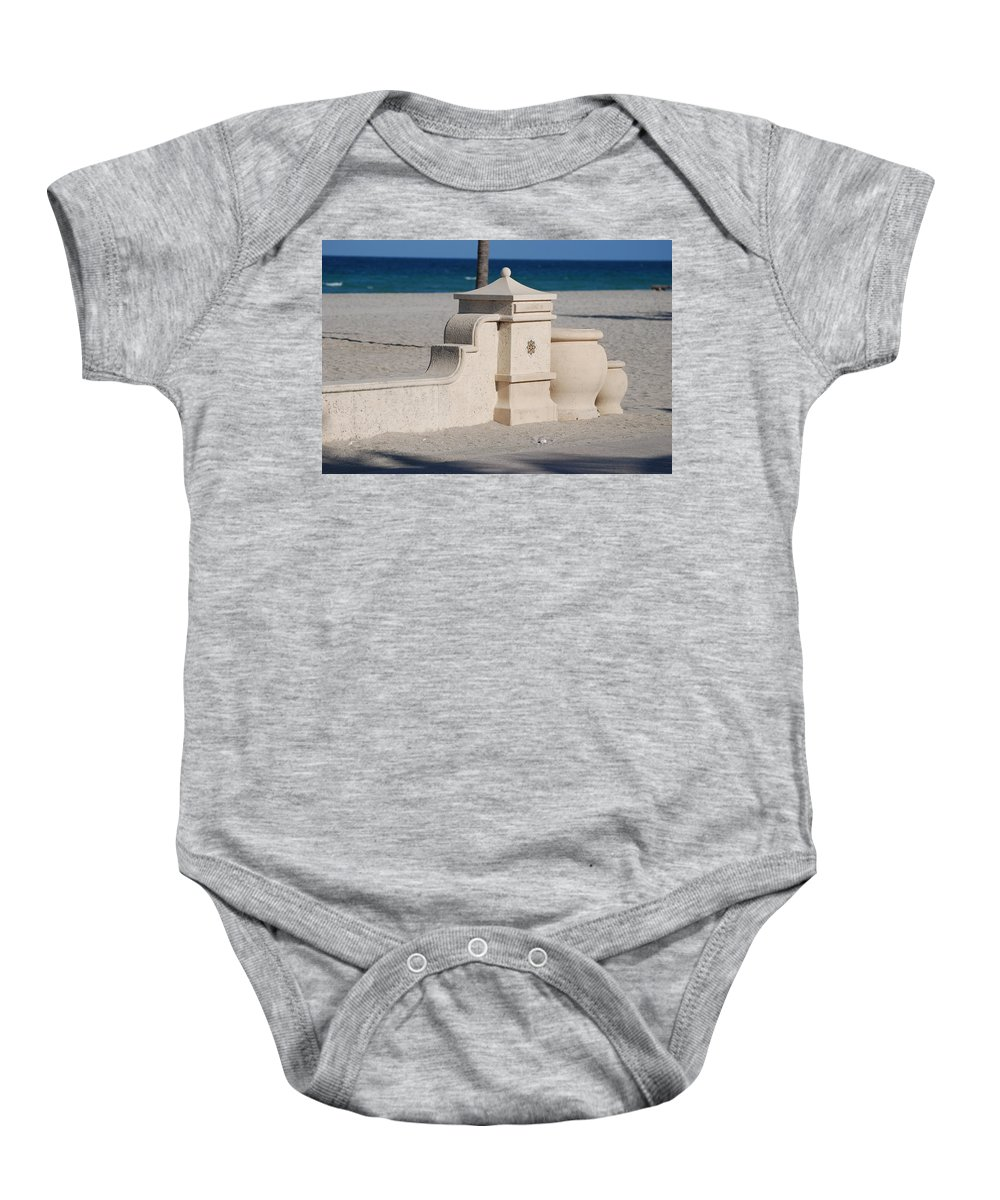 Beach Baby Onesie featuring the photograph Hollywood Beach by Rob Hans