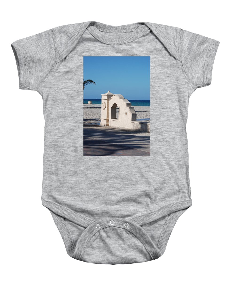 Beach Baby Onesie featuring the photograph Hollywood Beach Wall In Color by Rob Hans
