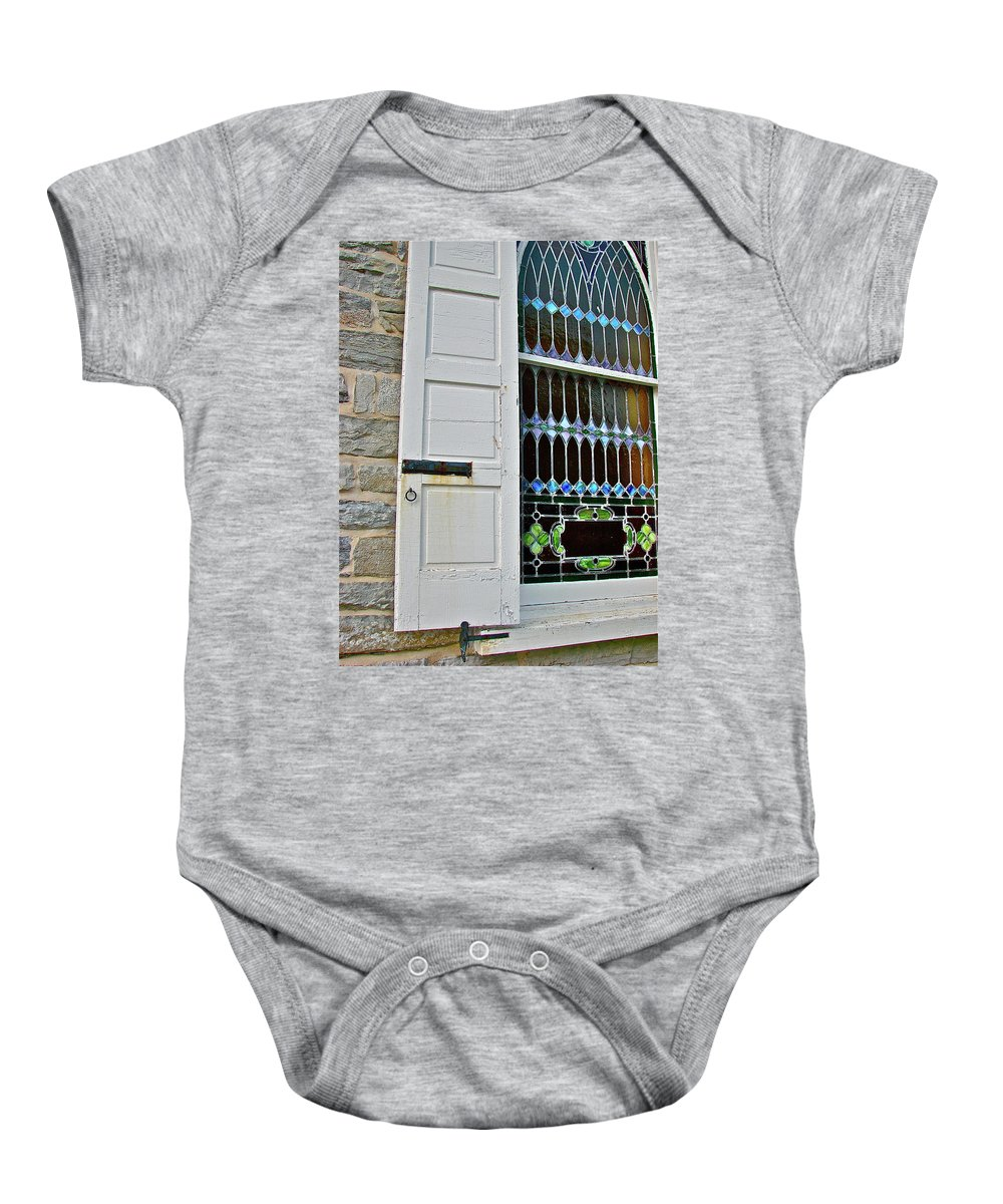 Country Baby Onesie featuring the photograph Holy Art by Diana Hatcher