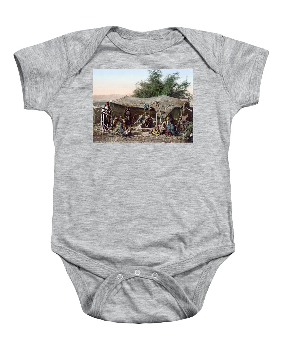 1890s Baby Onesie featuring the photograph Holy Land: Bedouin Camp by Granger