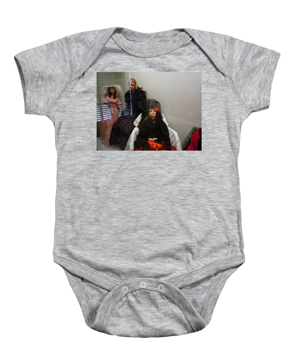 Dolls Baby Onesie featuring the photograph Home Is Where The Heart Is by Charles Stuart