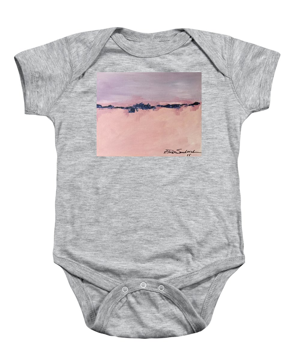 Landscape Baby Onesie featuring the painting Horizons 1 by Kathleen Sandoval