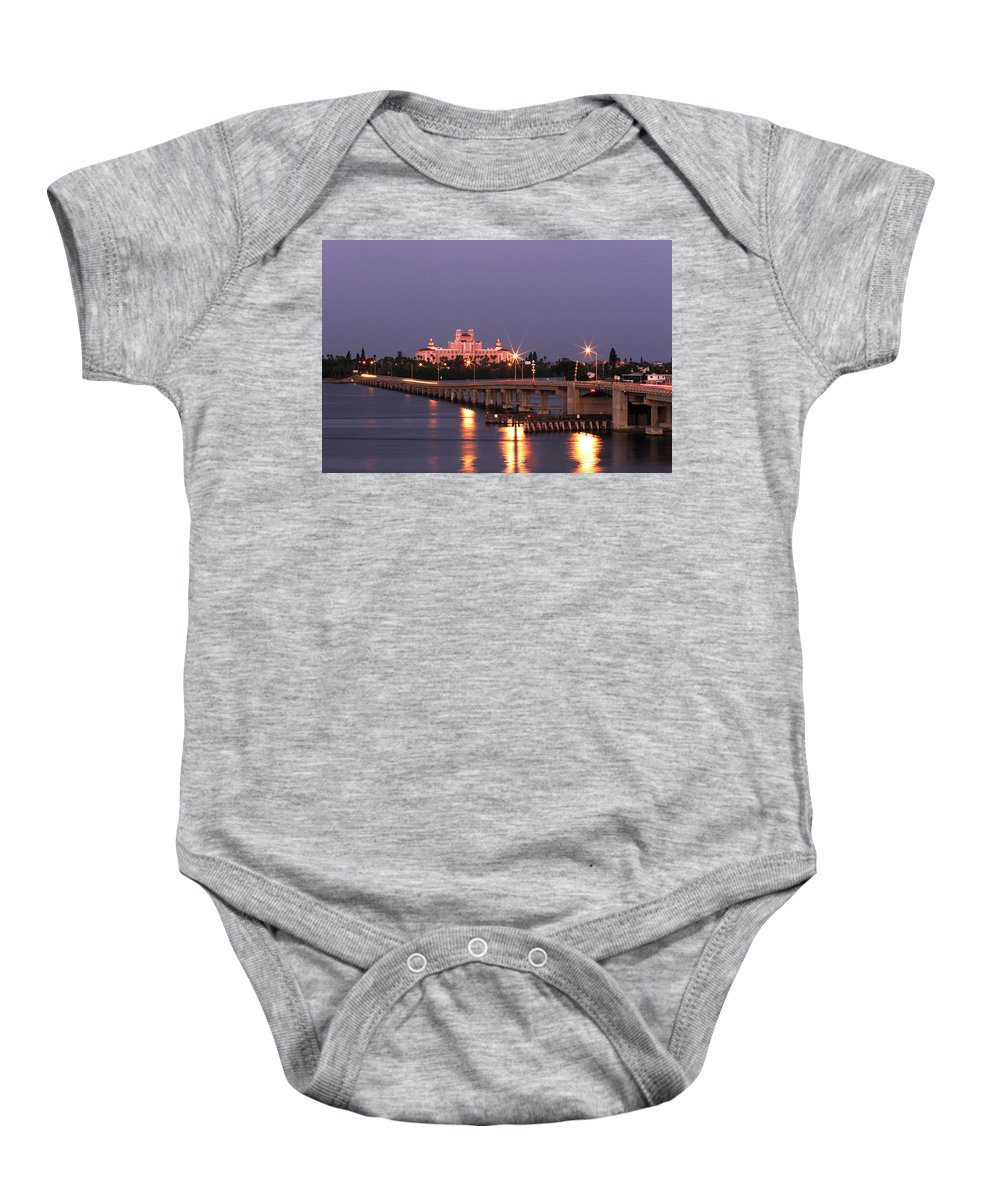 Don Cesar Baby Onesie featuring the photograph Hotel Don Cesar The Pink Palace St Petes Beach Florida by Mal Bray